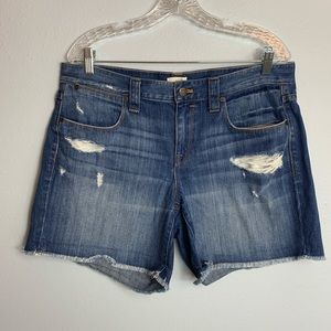 AWESOME J CREW DISTRESSED JEAN SHORTS SIZE 31